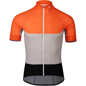POC Essential Road Maglietta Jersey leggera Uomo, granite grey/zink orange